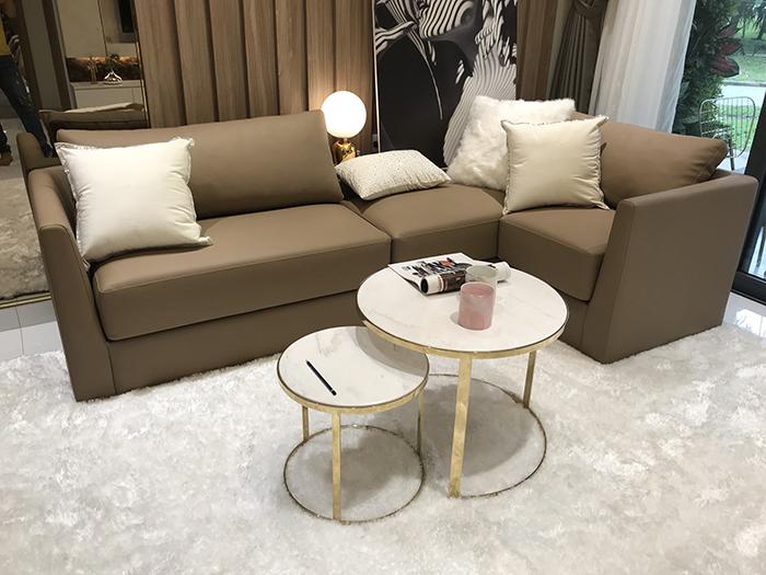 bàn sofa inox mạ vàng